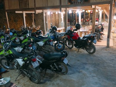 Motorbike for rent in Pu Luong