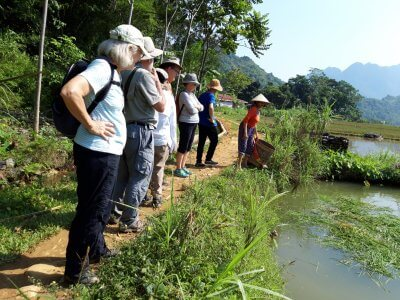 Visitting Fishfarm in Kho Muong Village