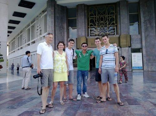 visitting Hoa Lo Prison