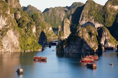 Beautiful limestone Island Of Ha long Bay